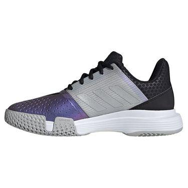 adidas CourtJam Bounce Womens Tennis Shoe Core Black/Silver/Grey Two FX1525