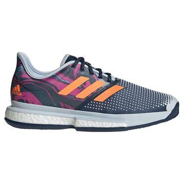 adidas SoleCourt Primeblue Mens Tennis Shoe Halo Blue/Screaming Pink/Screaming Orange FX1730