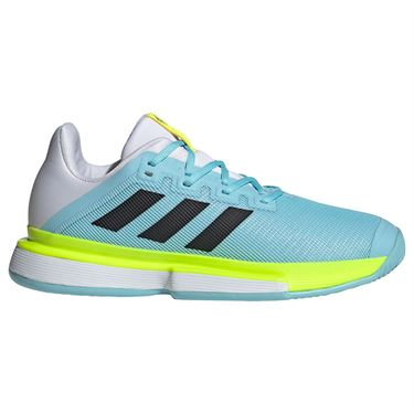adidas SoleMatch Bounce Mens Tennis Shoe Hazy Sky/Core Black/Solar Yellow FX1734