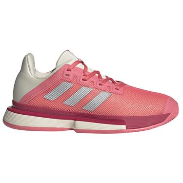 adidas SoleMatch Bounce Womens Tennis Shoe Hazy Rose/Silver/Acid Orange FX1740