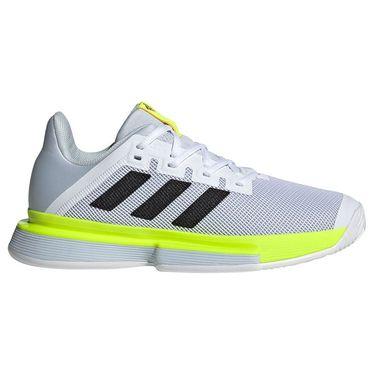 adidas SoleMatch Bounce Womens Tennis Shoe White/Core Black/Solar Yellow FX1741