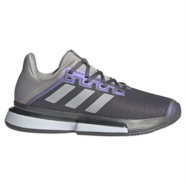 adidas SoleMatch Bounce Womens Tennis Shoe Grey Four/Silver/Grey Two FX1742