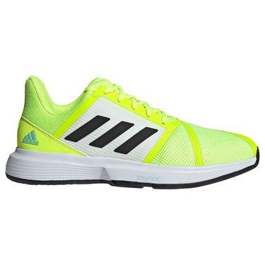 adidas CourtJam Bounce Mens Tennis Shoe Solar Yellow/Core Black/Hazy Sky FX4102