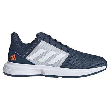adidas Court Jam Bounce Mens Tennis Shoe - Navy/White/Halo Blue