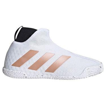 adidas Stycon Womens Tennis Shoe White/Copper Metallic/Core Black FY2946