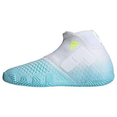 adidas Stycon Mens Tennis Shoe Hazy Sky/Solar Yellow/White FY3248