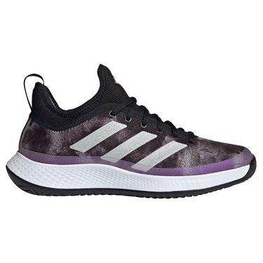 adidas Defiant Generation Womens Tennis Shoe Core Black/Silver/White FY3375