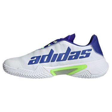 adidas Barricade Mens Tennis Shoe White/Screaming Green/Sonic Ink FZ1827