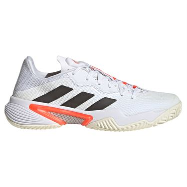 adidas Barricade Mens Tennis Shoe White/Core Black/Solar Red FZ3935