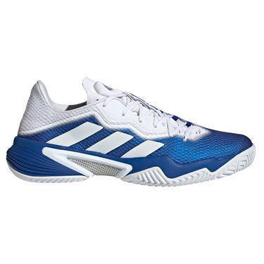 adidas Barricade Mens Tennis Shoe Team Royal Blue/White/Silver Metallic FZ3936