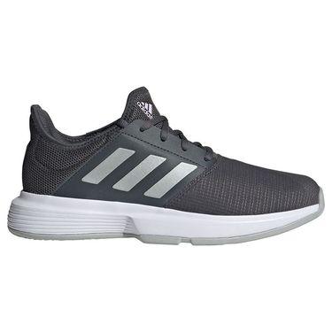 adidas Game Court Womens Tennis Shoe Grey Six/Silver Metallic/Purple Tint FZ4287