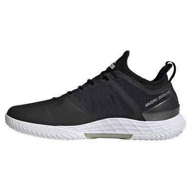 adidas Adizero Ubersonic 4 Mens Tennis Shoe Core Black/White/Silver Metallic FZ4881
