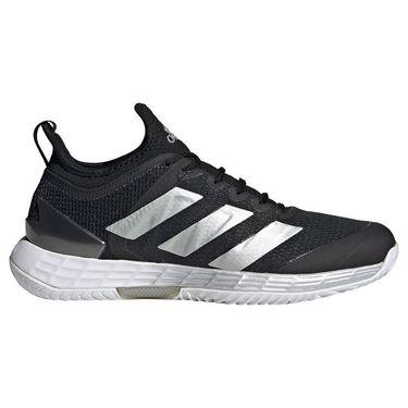 adidas Adizero Ubersonic Womens Tennis Shoe Core Black/Silver Metallic/White FZ4884