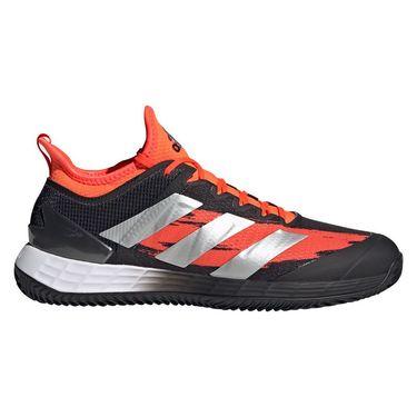 adidas Adizero Ubersonic 4 Clay Mens Tennis Shoe Core Black/Silver Metallic/Solar Red FZ5424