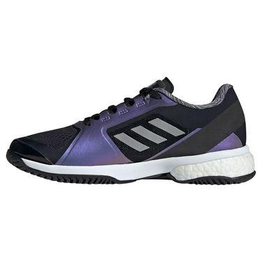 adidas Stella Court Womens Tennis Shoe Core Black/Silver/White G55657