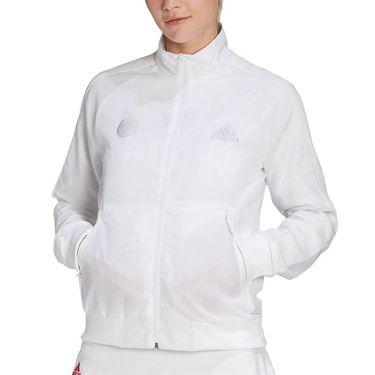 adidas Tennis Uniforia Jacket Womens White/Reflective Silver/Dash Grey GD5704