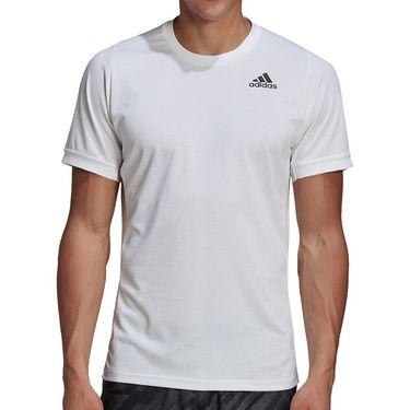 adidas Freelift Solid Crew Shirt Mens White GH4569