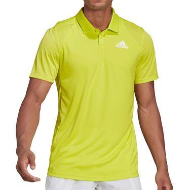 adidas Club Polo Shirt Mens Acid Yellow/White GH7218