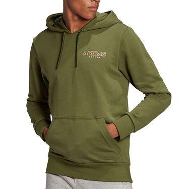 adidas Graphic Hoodie Mens Wild/Pine GK8157