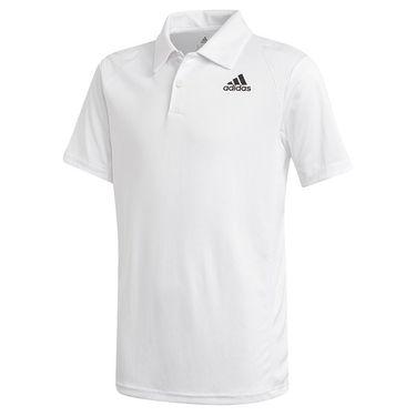 adidas Boys Club Polo Shirt White/Black GK8176
