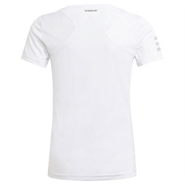 adidas Girls Club Tennis Tee Shirt White/Grey Two GK8186