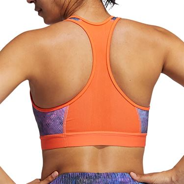 adidas Flower Sports Bra Womens Wild Teal/Multi Print GL0586