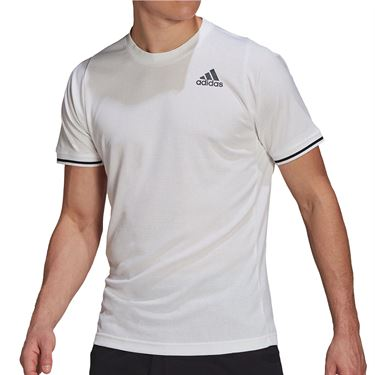 adidas Freelift Tee Shirt Mens White/Black GL5339