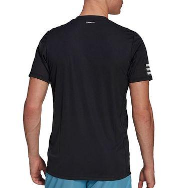 adidas Club 3 Stripe Tee Shirt Mens Black/White GL5403