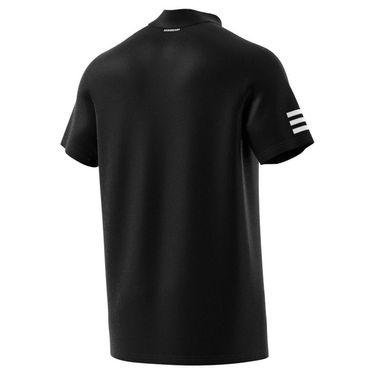 adidas Club 3 Stripe Polo Shirt Mens Black/White GL5421