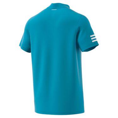 adidas Club 3 Stripe Polo Shirt Mens Hazy Blue/White GL5422