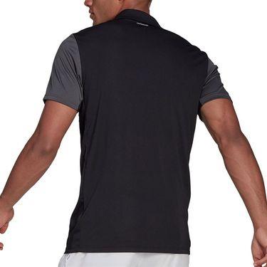 adidas Club Tennis Polo Shirt Mens Black/Grey Six/White GL5437