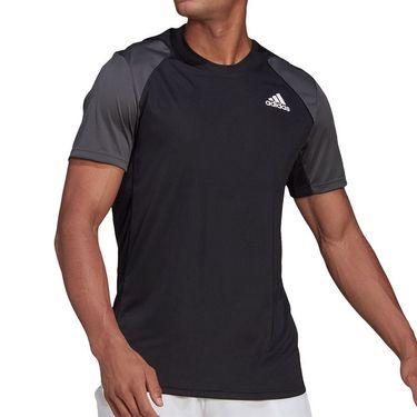 adidas Club Tennis Tee Shirt Mens Black/Grey Six/White GL5453