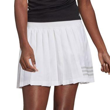adidas Club Pleat Skirt Womens White/Grey Two GL5469