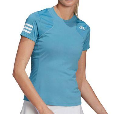 adidas Club Tee Shirt Womens Hazy Blue/White GL5532