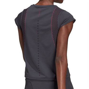 adidas Tee Shirt Womens Solid Grey/Screaming Pink GL5704
