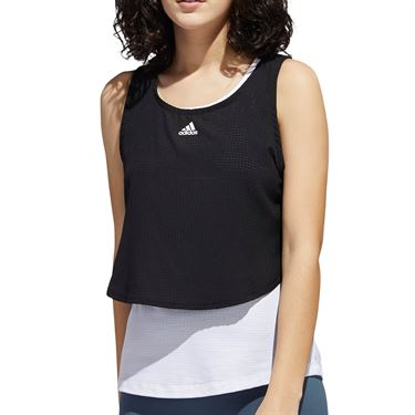 adidas Tech Crop Tank Top Womens Black/White GL7278