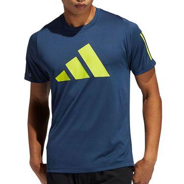adidas Logo Tee Shirt Mens Crew Navy GL8921