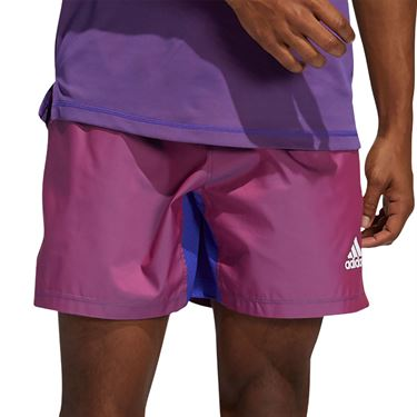 adidas Primeblue Short Mens Scarlet Melange GM0477