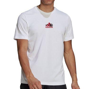 adidas Tee Shirt Mens White GN8065