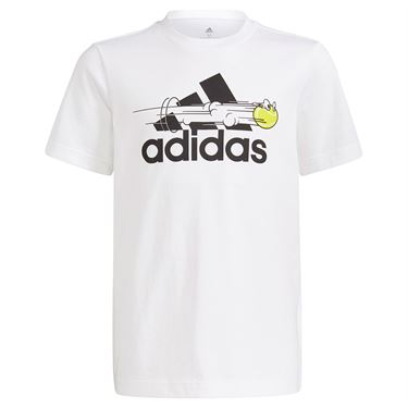 adidas Boys Tee Shirt White GN8068