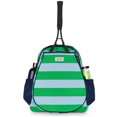 Ame and Lulu Game On Tennis Backpack - Grasshopper Green