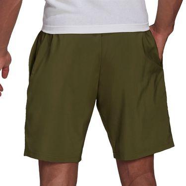 adidas Club 3 Stripe Short Mens Wild Pine/White GP9586