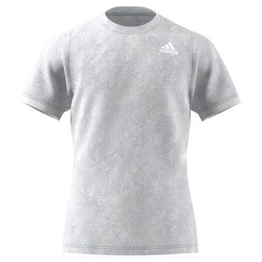 adidas Freelift Tee Shirt Mens Grey Two/Crew Navy/White GQ2219