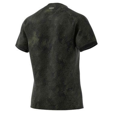 adidas Freelift Tee Shirt Mens Black/Wild Moss/Wild Pine GQ2222