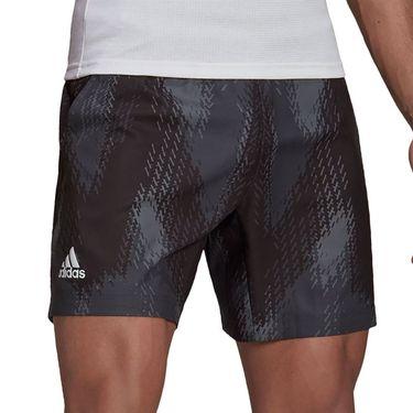 adidas Printed 7 inch Primeblue Short Mens Grey Five/Black GS4938