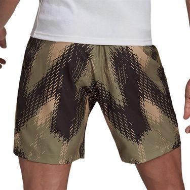 adidas Printed 7 inch Primeblue Short Mens Orbit Green/Ambient Blush GS4939
