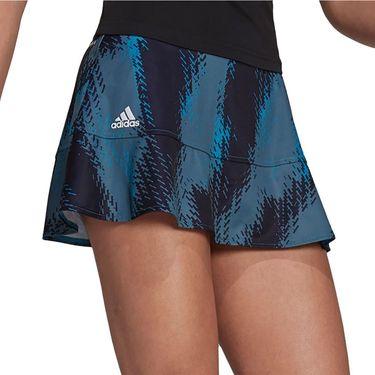 adidas Tennis Printed Match Skirt Primeblue Womens Sonic Aqua GS4941