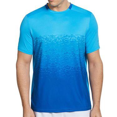 Grand Slam Fade Out Textured Print Crew Shirt Mens Spring Break GSKFA000 430