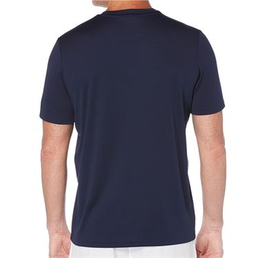 Grand Slam Stitch Effect Crew Shirt Mens Peacoat GSKSA0H3 424