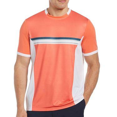 Grand Slam Colorblocked Crew Shirt Mens Emberglow GSKSB053 801